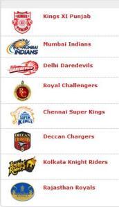 Indian Premier League 1st Season Teams